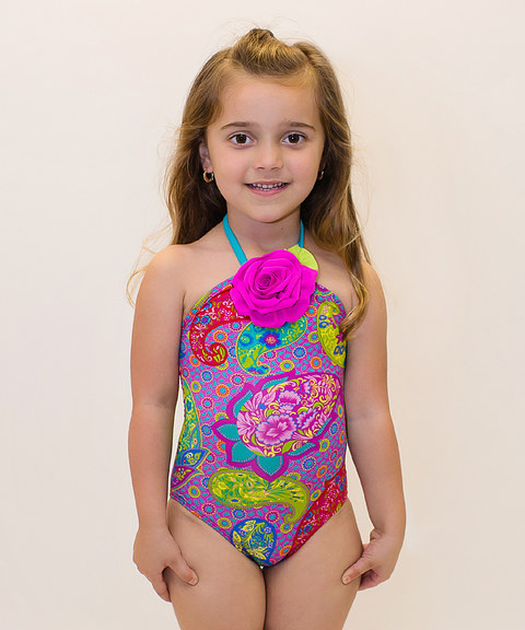 Halter little girls swimwear