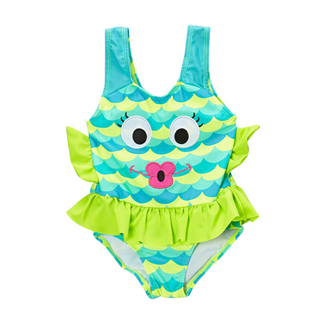 Fish one-piece bathing suits
