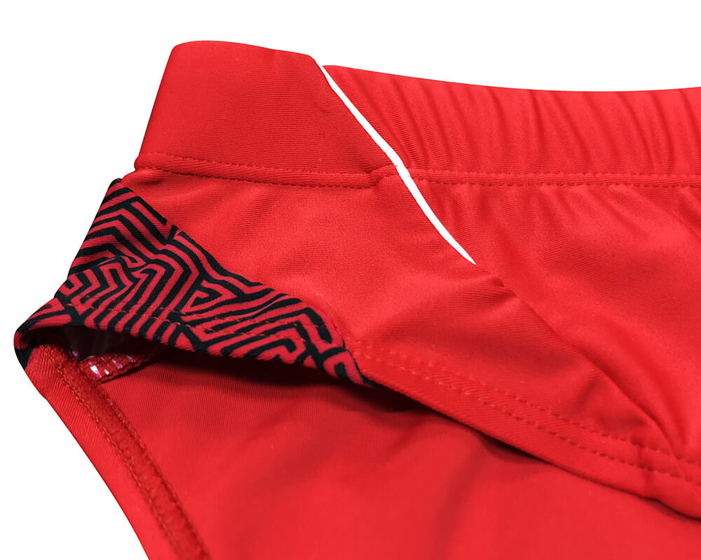 mens red swimming shorts
