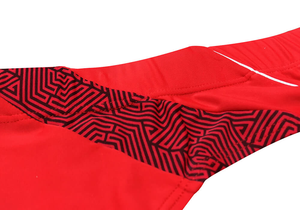 mens red swimming shorts-1