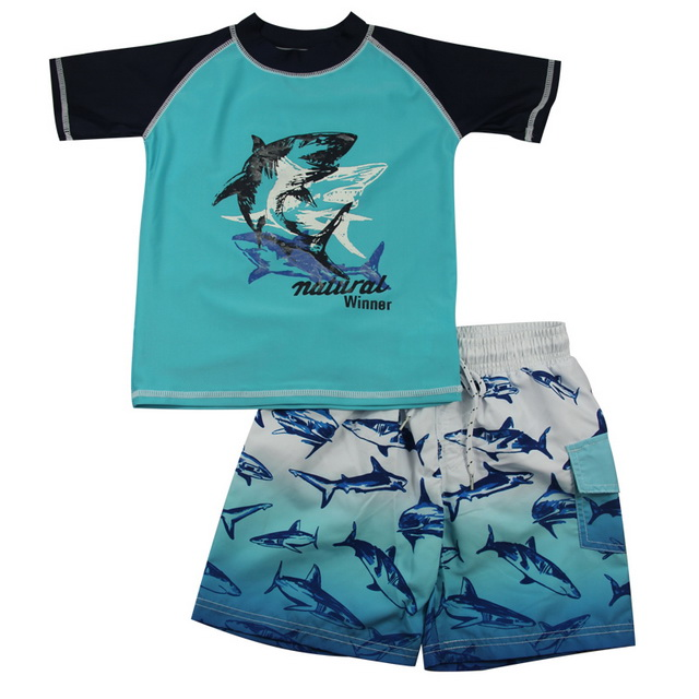 Shark rashguards boys