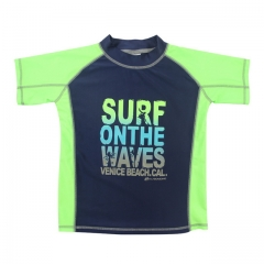 Boy rash guard tee