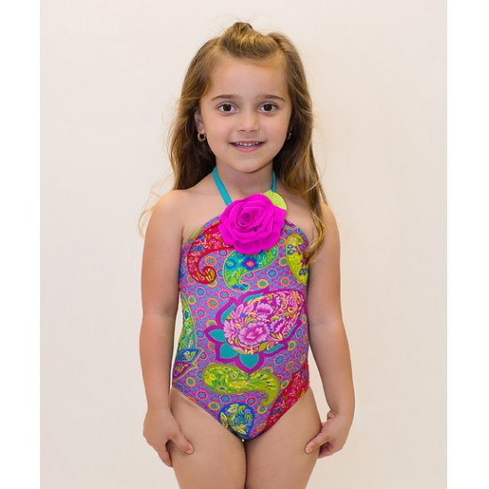 Little girl one piece swimwear