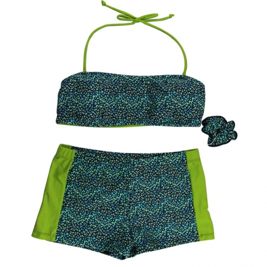 Green Leopard Ladies Bikini Sets